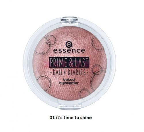 Essence Prime Last Daily Diaries Baked Highlighter Iluminator - Make-up - Iluminator)