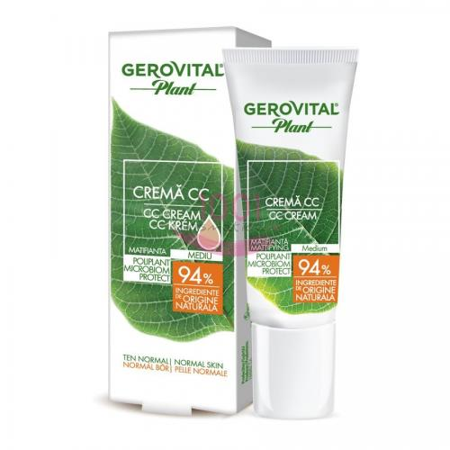 Gerovital Plant Poliplant Microbiom Protect Crema Cc Matifianta Nuanta Mediu - Make-up - BB cream