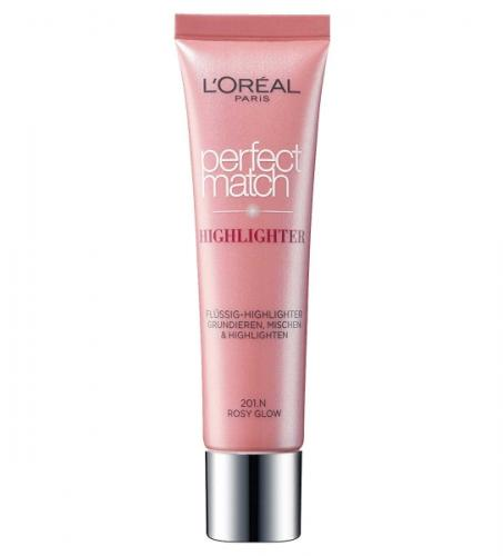 Iluminator multifunctional L OREAL Perfect Match Highlighter - 201N Rosy Glow - 30 ml - Machiaj fata -
