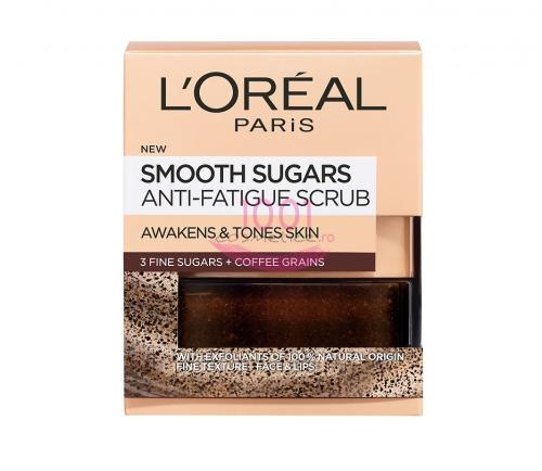 Loreal Smooth Sugar Anti-fatigue Scrub Pentru Fata