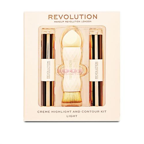 Makeup Revolution Creme Highliter And Contour Kit Light - Make-up - Contur