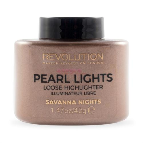 Makeup Revolution Pearl Lights Loose Highligter Savanna Nights Iluminator Pudra - Make-up - Iluminator)