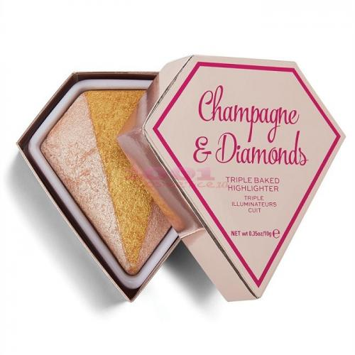 MAKEUP REVOLUTION TRIPLE BAKED HIGHLIGHTER CHAMPAGNE & DIAMONDS - Make-up - Iluminator)