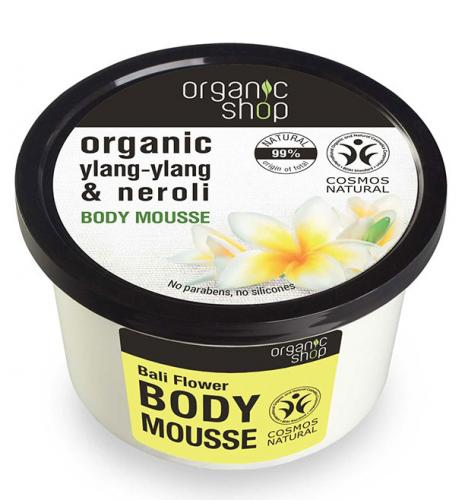 Mousse delicios pentru corp cu Floare Bali Apa florala de Neroli – Organic Shop Body Mousse – Ingrediente 99% Naturale – 250 ml
