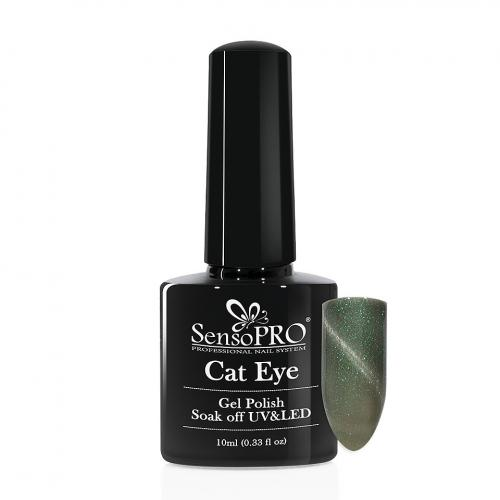 Oja Semipermanenta Cat Eye SensoPRO 10ml - #033 Fairy Green - Oja semipermanenta ieftina -  Oja sensopro unghii