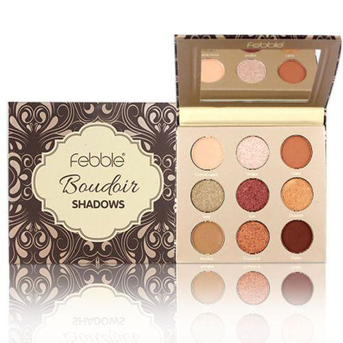Paleta farduri Febble Boudoir Shadows Palette 9 Colors - 02 - Machiaj ochi -