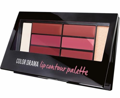 Paleta rujuri Maybelline New York Color Drama Lip Contour Palette – 02 Blushed Bombshell – 4 g