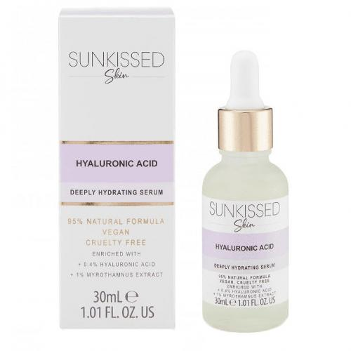 Ser cu Acid Hyaluronic - SUNKISSED Deeply Hydrating Serum - 95% Ingrediente Naturale - 30 ml - Ingrijire Ten - Hidratare