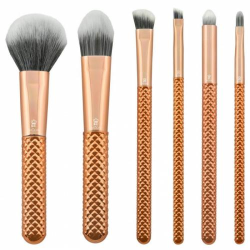 Set pensule profesionale Royal Langnickel MODA Metallics Total Face Flip Kit - 7 piese - Rose Gold - Truse Si Seturi - Fata