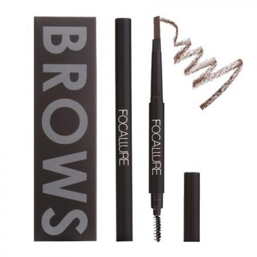Creion sprancene Focallure Auto Brows Pen - 02 Brown - Machiaj sprancene -